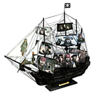 Customized drawings Pirates of the Caribbean the Black Pearl Wooden sailing boat model Ornament