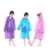 Plastic printed kids eva recyclable rain poncho with logo