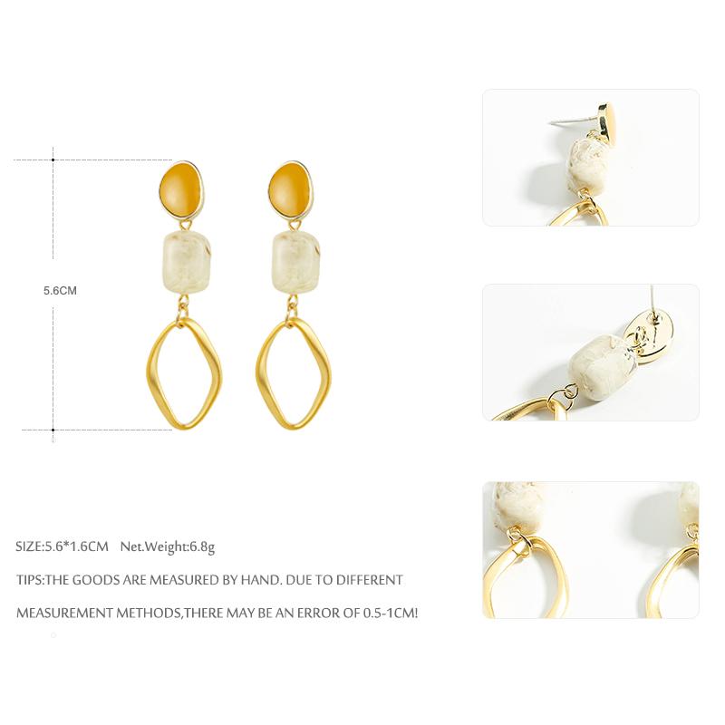 Yhpup Moda Resina Pedra Brincos Pendurados Declaração Geométrica Charme Esmalte Brincos Para Mulheres Pendientes Jóias Za 2020 Buy Stone Dangle Earrings Pendientes Za 2020 Earrings For Women Product On Alibaba Com