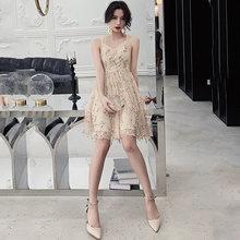 Женское платье на бретельках It's Yiiya, платье для выпускного вечера с v-образным вырезом и блестками, платье для выпускного вечера, размеры плю...(Китай)