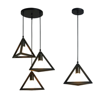 Best Product Contemporary Custom Decoration Triangle Lighting Iron Pendant Lamp