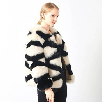 Custom Fashion Unique Irregular Shaggy Sexy Winter Wear 2020 Genuine Fur Jacket Fluffy Cropped Real Fox Fur Coat Women