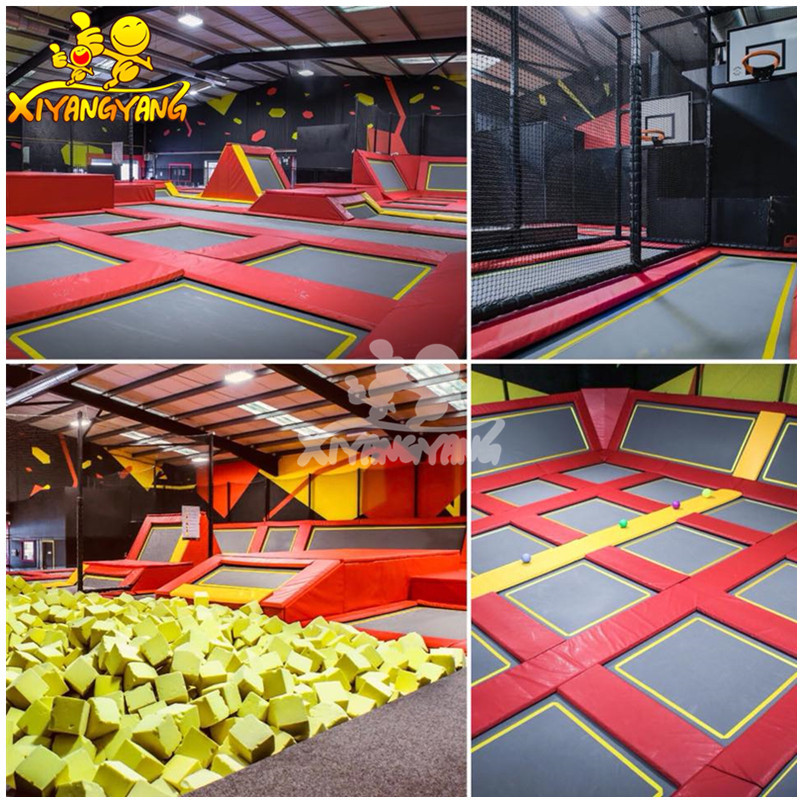 Functional trampoline park adult and kids indoor playground equipment combination amusement park with multi items for sale