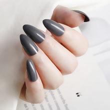 24 шт., искусственные короткие ногти, акриловые шпильки, искусственные ногти, красные накладные ногти, сделай сам, дизайн ногтей для маникюра,...(Китай)