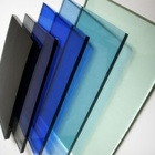China wholesale 3mm-12mm blue/green/grey/pink/bronze colored float glass for church building