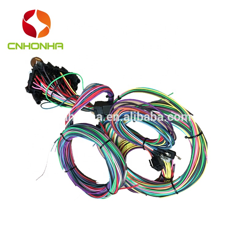12 Circuit Universal Wire Harness Muscle Car Hot Rod Street Rod New on universal wiring harness kit, universal hot water heaters for cars, universal painless wiring harness, universal wiring harness diagram, universal hot rod motor mounts, universal gm wiring harness, universal hot rod mirrors,