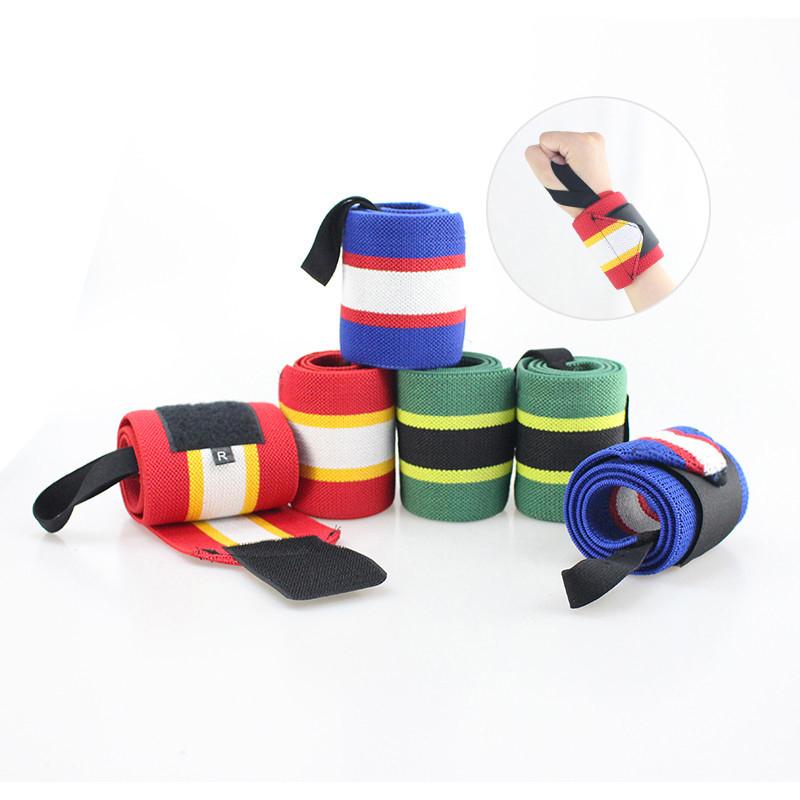 Custom High Elastic Compression Gym Wristband Wrist Guard Wraps for Weightlifting