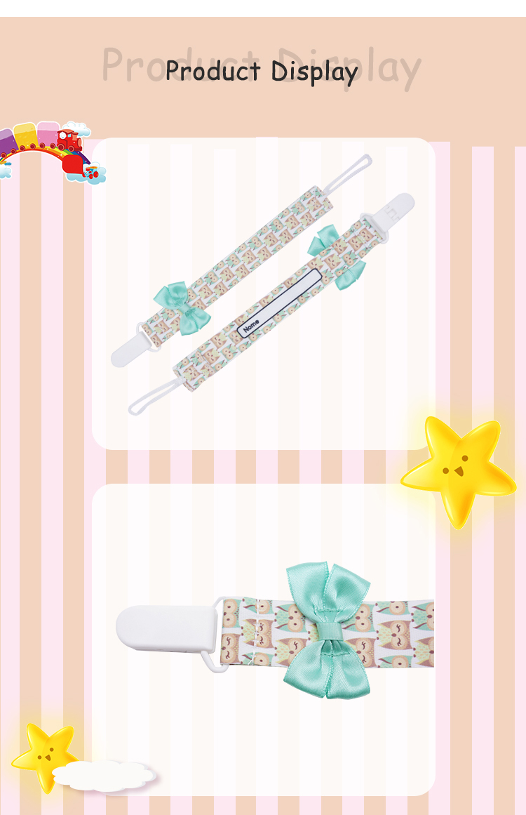 Friendly cute custom baby pacifier holder clip pacifier clip