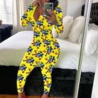 Sexy Sleepwear Women 2020 New Arrival Sexy V Neck Long Pants Sleepwear Loungewear Onesie Pajamas For Women