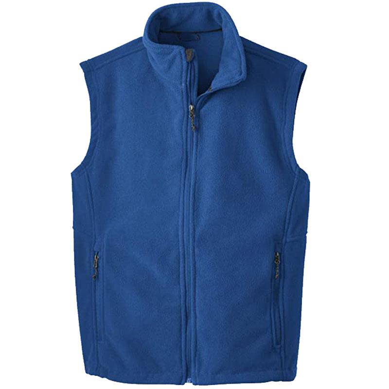 China wholesale custom logo printed fleece vest for men