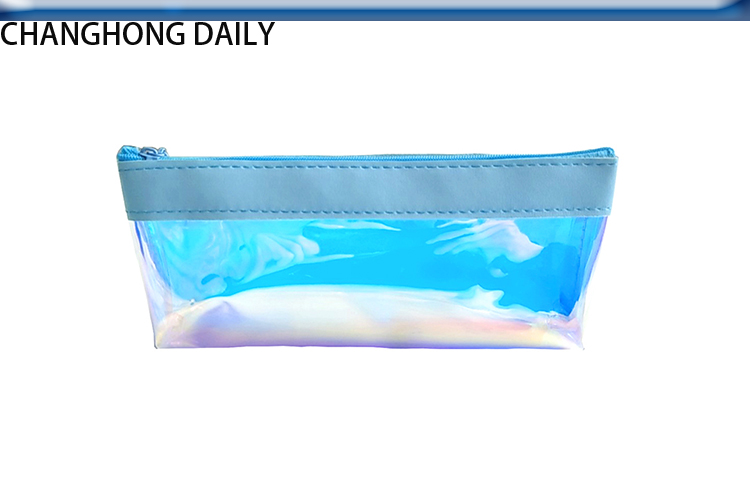 rainbow colorful pvc tote bags pencil bag cosmetic bag OEM ODM