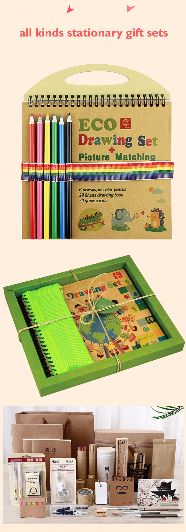 Novelty eco friendly recycled notebook diary book, recycled notebook wit pen