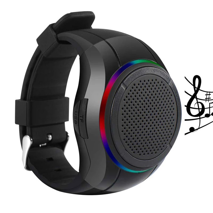X10 Tahan Air LED Bluetooth Speaker Watch MP3 Pemutar Musik PTT Gelang Mini Wearable Nirkabel Portabel Bluetooth Speaker