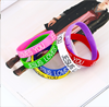Fashional Style Wholesale Custom Shape Rubber Personalized Silicone charm Bracelet