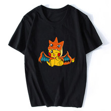Мужская футболка из японского хлопка с сюрпризом, Пикачу, Vaporwave, классная аниме футболка с покемоном, эстетика, Харадзюку, уличная одежда(Китай)