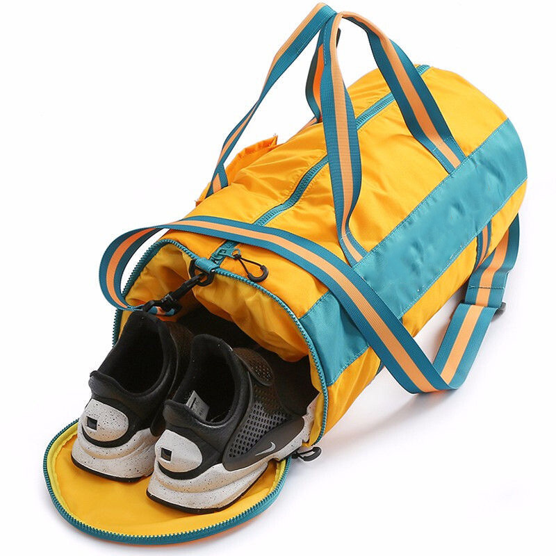 Sport Beauty Custom Water Proof Duffel Cotton Travel Security Man Soccer Gym Shoes Compart Compartment Bag Luggage Duffle Bag