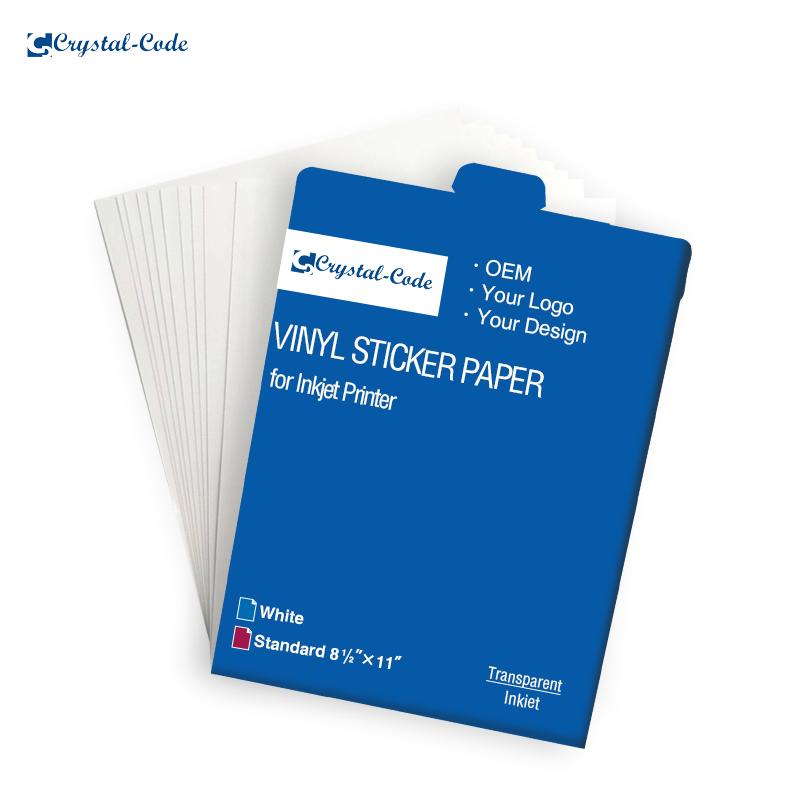 Printable Inkjet Vinyl Sticker Clear