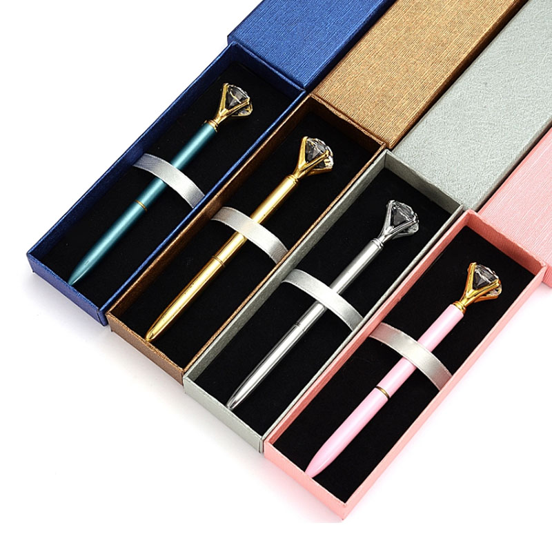 2020 new year gift set  Corporate Gift Set with Box Promotional Gold Diamond Ballpoint Pen Gift