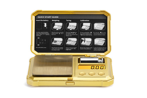 New Arrive 0.001g/0.1g  Golden Mini Weight Weighting Balance Digital Scale Pocket Jewelry Scale Portable Electronic Scales