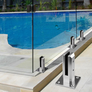 single 8mm 10mm 12mm clear tempered glass fence panels for swimming pool