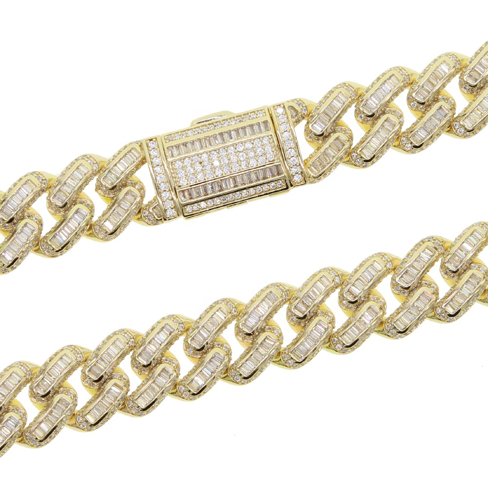solid 14mm cz cuban chain bracelet iced out bling hip hop jewelry for men