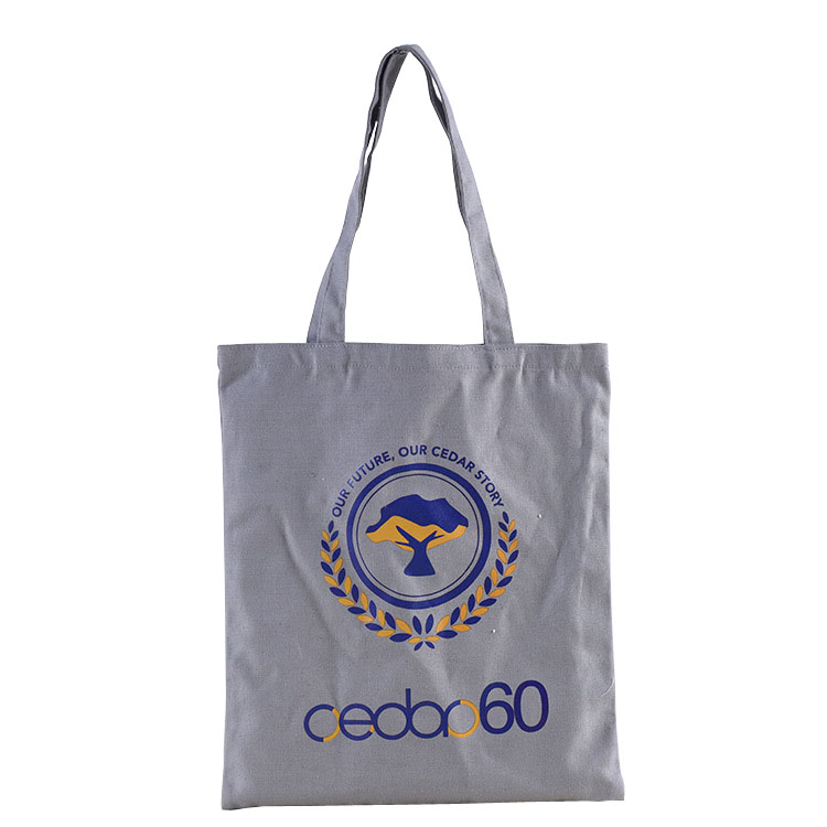 Top ranking reusable fancy canvas shopping bag with logo print