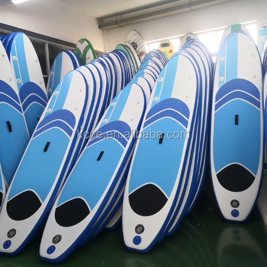 On stock Hot selling 11 feet double layers drop stitch inflatable SUP paddle board//