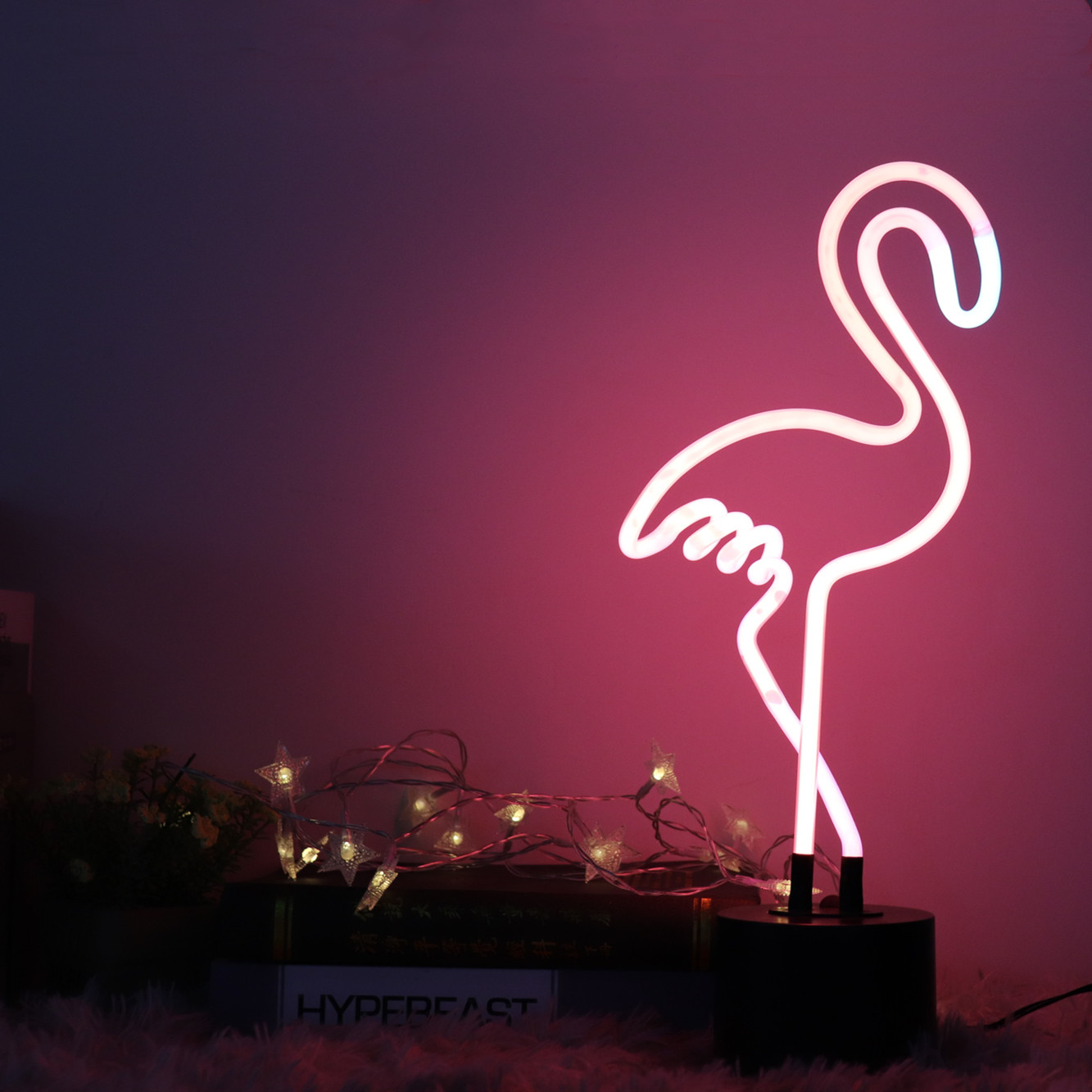 3d led christmas neon sign Flamingo Reshape LED Neon where to buy neon lights for home