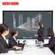 86 inch 3840X2160 smart whiteboard dual os 10 points ir touch screen interactive digital white board