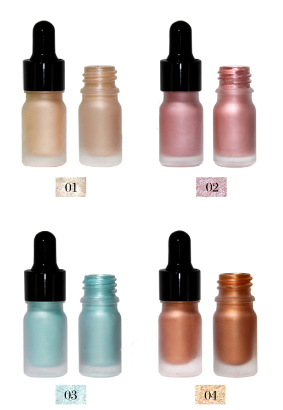 Professional wholesale makeup face highlighting 4 colors private label liquid highlighter