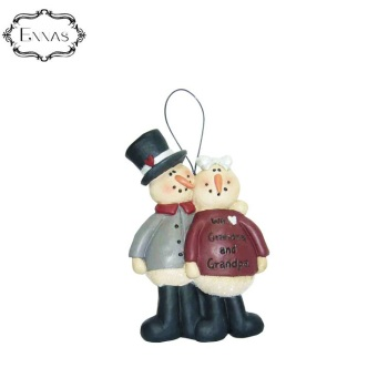 Kindly grandmother and old grandfather resin hanging ornaments