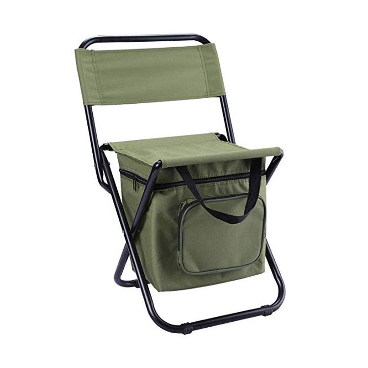 קל משקל משענת שרפרף קומפקטי קרפיון דיג כיסא מושב עם Cooler תיק