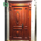 Hot italian hand carving modern luxury stylish cast arched simple latest design entry fancy main double solid teak wood door