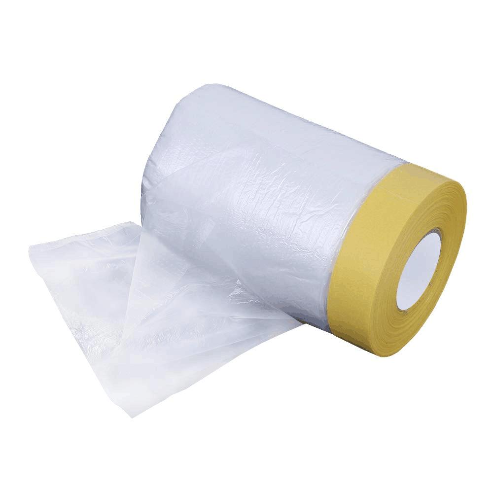 Маляр предварительно скрепленная защита для покраски прозрачная маскирующая пленка