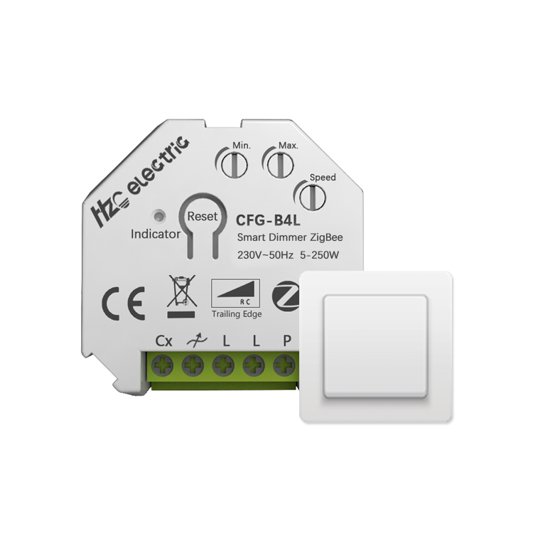 Smart Bell Press Box Dimmer Zigbee Universal Dimmer Switch 250W LED