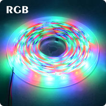 Светодиодная лента, 5 м, RGB, 12 В, Холодный/теплый белый, SMD 2835, светодиодный светильник с подсветкой для ТВ, гостиной, спальни, кухни(Китай)