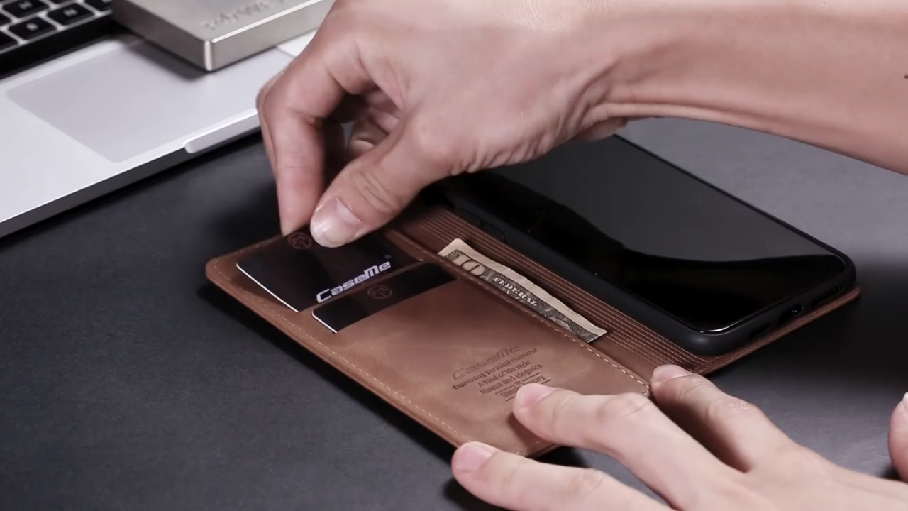 CaseMe Grosir Cell Phone Case Cover Dompet Kulit Case untuk Redmi Note 8 CATATAN 8 Pro Case Dompet