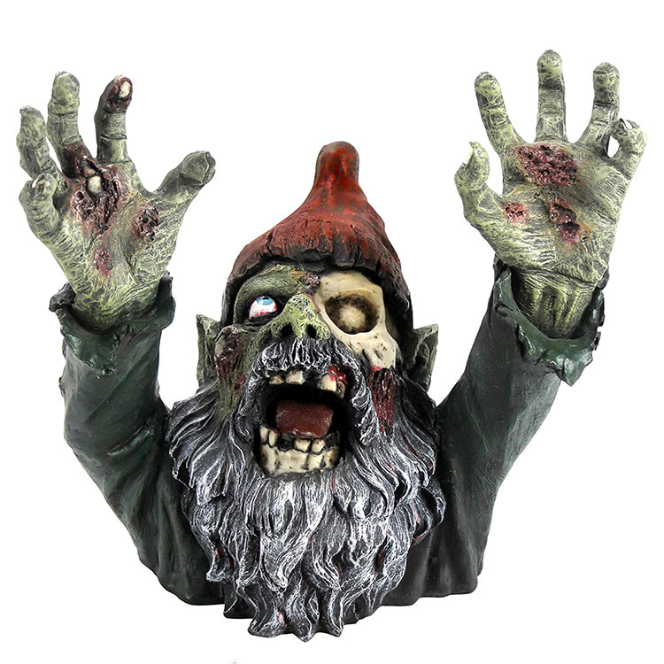 Wholesale resin gnombie gothic decor garden decoration halloween zombie