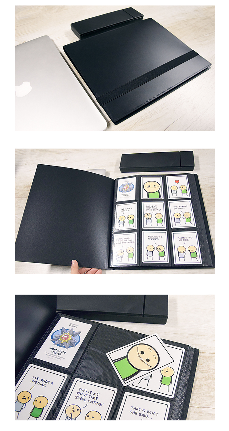 360 Pockets Trading Card Sleeves Folder Side Loading Pocket Binder Card Pages Collector Abum for Sport Trading Cards