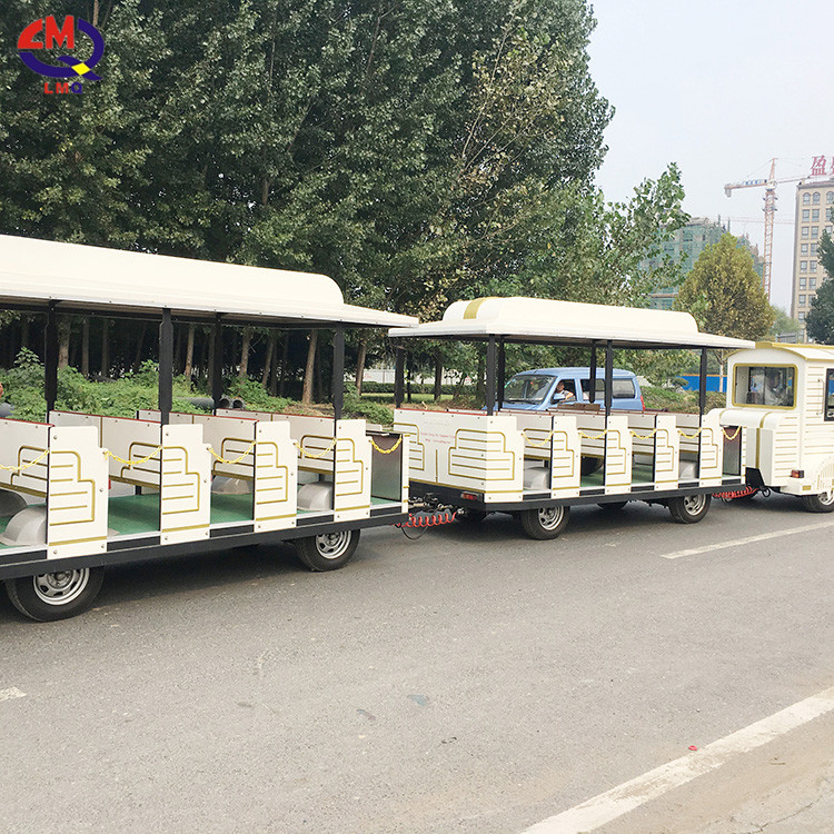 CE Certification New Design Diesel Engine Capacity 40 Seats City Trackless Train
