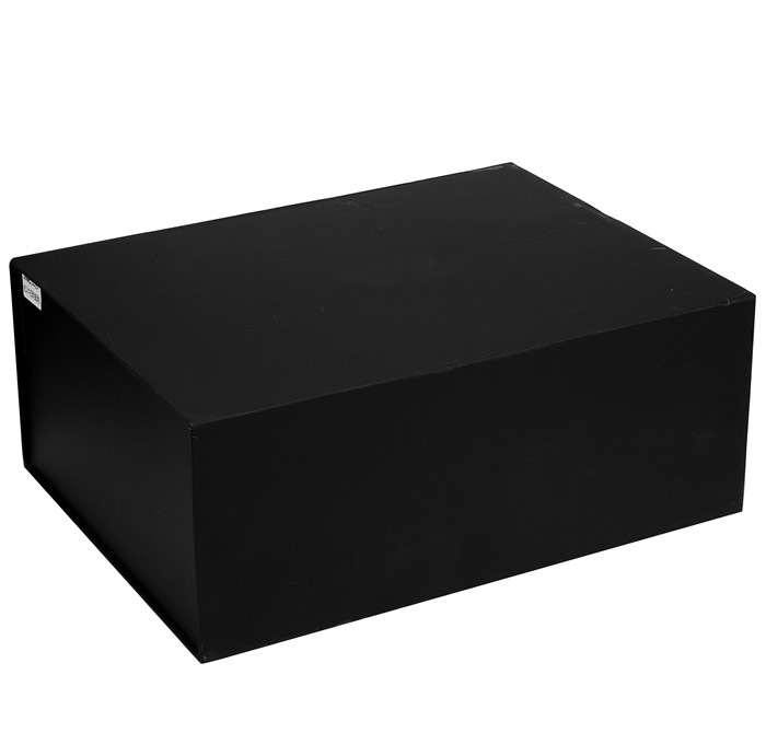 Fashion Luxury Clothes Paper Gift Box Garments Hard Black Paperboard Folding Clothing Packaging Box