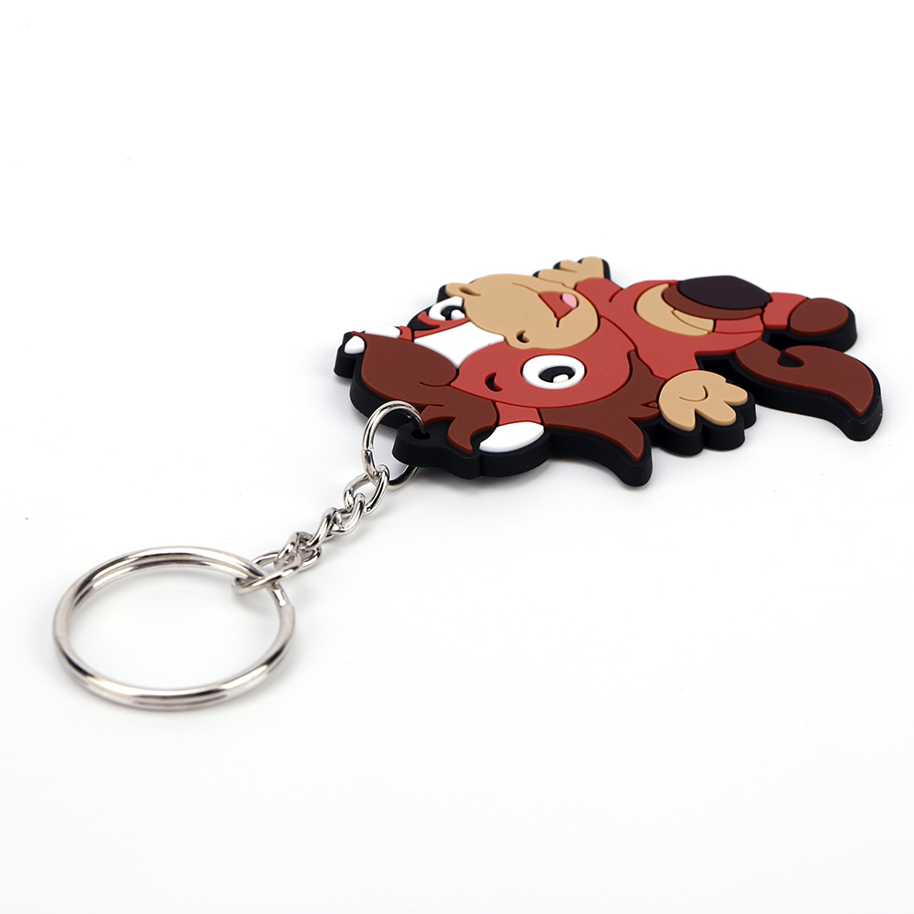 Promotion <strong>cute</strong> <strong>Gift</strong> 12 Chinese Zodiac Custom logo PVC Key Chain Ring 3D Keychains