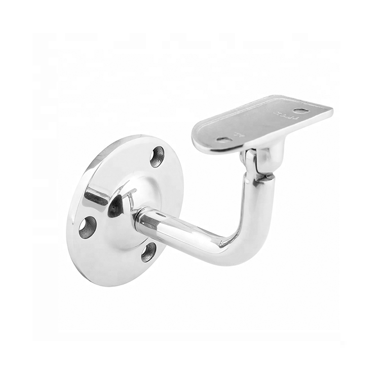 Stainless Steel Side Mount Glass Shelf Tube Handrail Pipe Wall Bracket