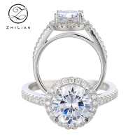 925 finger sterling silver women diamond engagement wedding ring