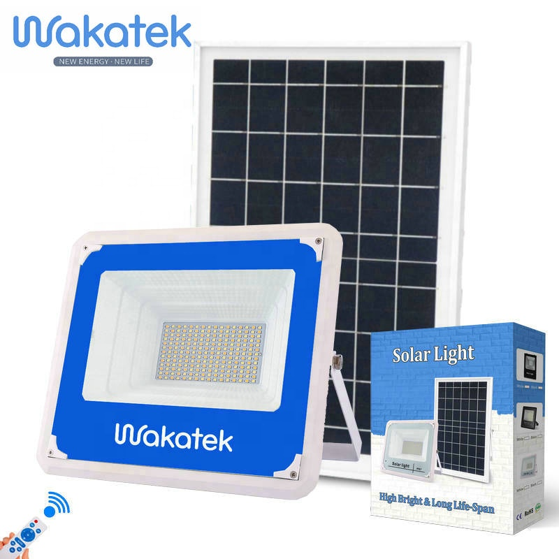 WAKATEK high quality 100W 150W 200W 300W solar lamp outdoor flood light