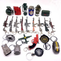 Jedi survival keychain knife keychain game mini gun keychain