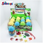 Set New Arrival 12PCS Mini PVC Sea/Farm Animal/Dinosaur Figure With Big Plastic Mystery Egg Toys Set