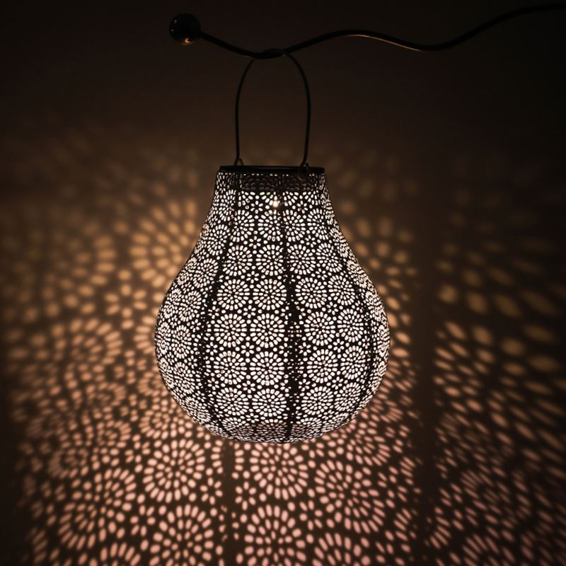 Gold Moroccan Lantern Iron Tall 4Ft Lanterns Hanging Lamp Ceiling Pendant Outdoor Solar Lights Fairy Church Outside White