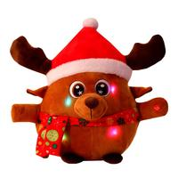 plush musical christmas toy baby reindeer santa claus cute singing christmas toys