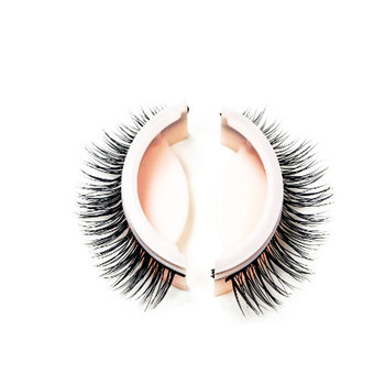 wholesale mink eyelash no glue need 3D eyelashes self adhesive full strip lashes